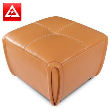 奥尔凡专柜正品凳子 真皮梳妆沙发圆凳