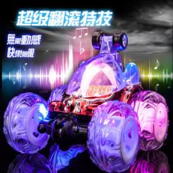 龙祥新版 充电翻斗车特技车遥控车遥控汽车儿童玩具车