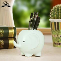 欣润 可爱大象笔筒小摆件 创意装饰品 3色可选