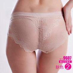爱晴柔 女士蕾丝中腰无痕性感透明内裤