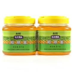 北大荒 东北黑蜂椴树蜂蜜1000g*2瓶 东北特产