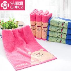 grace 洁丽雅 纯棉卡通童巾6条装