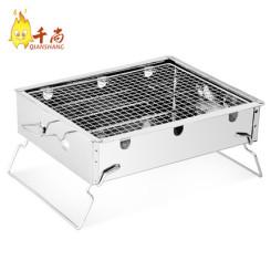 千尚 加厚不锈钢烧烤炉子 家用便携烧烤架