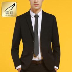Muszoom满速 男士西服套装 商务正装休闲修身西装 送领带和袜子