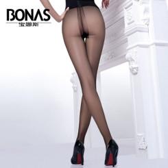 BONAS宝娜斯 T档无痕女士丝袜防勾丝 脚尖透明超薄隐形连裤袜