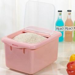茶花 米桶储米箱米缸20斤装10kg 15斤带盖塑料防虫无毒