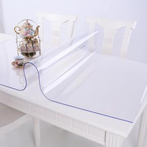 竹月阁 PVC防水油软质玻璃餐桌布 透明塑料磨砂桌垫 免洗茶几垫台布水晶板