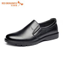 红蜻蜓 男鞋秋季真皮透气软底中老年男士爸爸鞋商务休闲皮鞋 2色可选