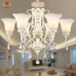 迪莱克斯 069-6H欧式吊灯 简约现代田园客厅灯水晶灯 LED灯具灯饰