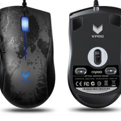Rapoo雷柏 v200背光游戏鼠标 CF LOL笔记本电脑USB电竞编程加重有线鼠标