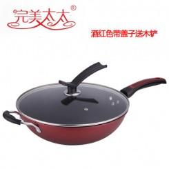 太太 WM-2244不粘锅炒锅无油烟锅铁锅煤气燃气电磁炉通用厨房锅具32CM