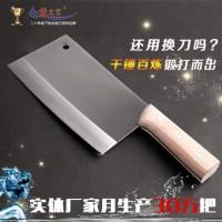 龙之艺 菜刀家用锻打不锈钢刀具德厨房切菜刀锋利切片刀国厨师刀 送削皮刀