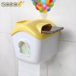 ecoco意可可 创意卫生间纸巾盒 塑料吸盘厕所纸巾盒 卫生卷纸厕纸盒 4色可选