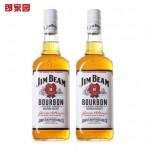 天猫双11预售:Jim Beam占边波本 威士忌酒洋酒双支组合装750ml*2