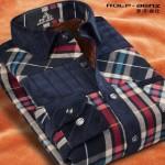 ROLF-BENZ罗浮宾仕 秋冬季男士保暖长袖磨毛格子衬衫 修身型加绒加厚衬衣 多款可选