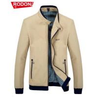 RODON 秋冬装男士夹克衫商务绅士上衣韩版立领加绒款休闲外套