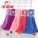 Bejirog北极绒 成人/儿童可爱珊瑚绒厨卫挂式干手巾搽手帕擦手毛巾 2款多色可选