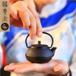 踞虎堂 迷你小铁壶满天星铸铁壶茶宠茶道铁壶茶具配件
