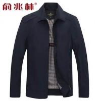 俞兆林 春装新款中年男士商务夹克外套上衣爸爸装茄克外套 6色可选