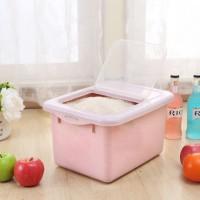 雨露 厨房米桶防蛀储米箱 塑料存米箱 粮食收纳箱 米面桶 加厚米盒 米缸 6色可选