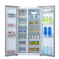Midea美的 BCD-610WKM(E) 610升 对开门冰箱 风冷无霜 电脑控温 纤薄设计 节能静音(泰坦银)
