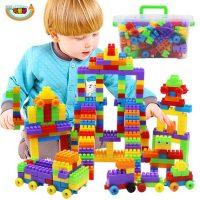 可爱号 儿童大号颗粒塑料拼搭积木早教拼装拼插积木3-6周岁玩具170粒盒装