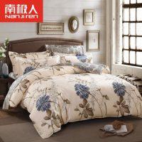 南极人 纯棉四件套全棉床上用品夏季床单被套1.5米1.8m双人床品4件 19款可选