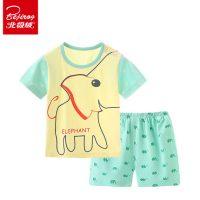 北极绒 童装夏季宝宝套装婴儿衣服儿童男女夏装纯棉薄款小童短袖两件套 15款可选