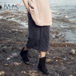 闲然 秋款新品女装 文艺女裙半身长裙大码包臀裙修身纯色半身裙 3色可选