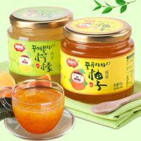 福事多 蜂蜜柚子茶500g+柠檬茶500g 韩国风味水果茶冲饮品 送杯勺