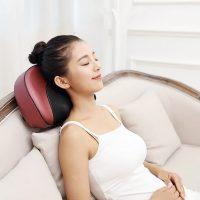 本博 AM-507颈椎按摩器颈部多功能腰部全身电动枕头肩部脊椎脖子家用靠垫 多款可选