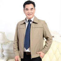 财爵世家 中老年男士外套立领爸爸装秋季薄款休闲夹克衫多口袋上衣男装 7款可选