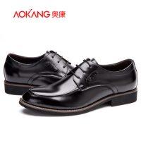奥康 皮鞋新款英伦风男士商务正装皮鞋德比鞋真皮流行男鞋165211621+送皮带
