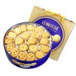 达顿庄园 曲奇饼干908g 休闲零食大礼包吃的散装蓝罐铁盒礼盒装