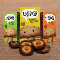 菇滋菇滋 香菇脆 即食香菇干孕妇零食休闲食品香菇脆片蔬菜干 多种口味 3盒