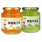 东大韩金 蜂蜜柚子茶500g+芦荟茶500g 水果茶韩国风味冲饮品