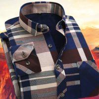 丹唛果 冬季男士加绒加厚保暖衬衫男士长袖格子修身青年保暖衬衣男装 22款可选