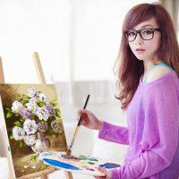 自油自画 数字油画diy手绘客厅卧室风景装饰画欧式花卉手工填色画 8款可选