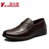 意尔康 男鞋正品秋新款真皮男士商务休闲鞋套脚皮鞋防滑爸爸鞋 2色可选
