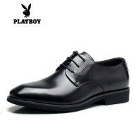 PLAYBOY花花公子 男鞋冬季商务正装男士皮鞋英伦真皮加绒棉鞋新郎婚鞋子 3色可选