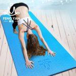 峰燕 瑜珈垫tpe瑜伽垫加宽加厚加长男女初学者健身垫运动防滑无味