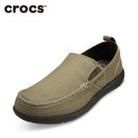 Crocs卡骆驰 男鞋夏季沃尔卢低帮帆布鞋男潮流透气休闲鞋11270 四色可选
