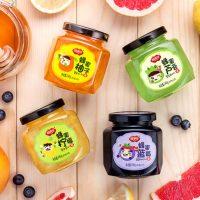 福事多 蜂蜜柚子+柠檬+芦荟+蓝莓水果茶240g*4口味 韩国风味冲饮品