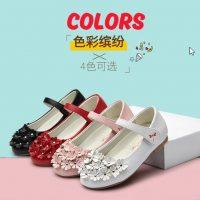 红蜻蜓 童鞋2017春季新款女童皮鞋韩版儿童休闲鞋单鞋女孩公主鞋 4色可选