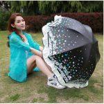 天堂伞 拱形大花边公主伞折叠遮阳黑胶强防晒晴雨伞 8款可选