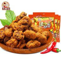 芝麻官 重庆特产小吃美食办公休闲零食炒货兰花豆怪味胡豆包360g*4袋