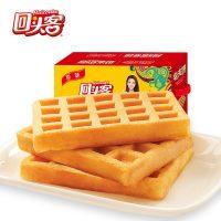 回头客 华夫饼干原味1000g早餐食品口袋面包糕点软面包整箱