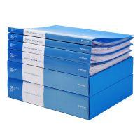 chanyi创易 CY8610-1 活页资料册夹子试卷办公用品学生用插页袋多层透明a4小清新文件夹 20页