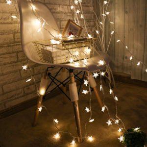 鸣洲 LED彩灯闪灯串灯满天星小彩灯少女收割机宿舍装饰星星灯3米20灯