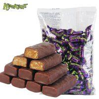 KDV 俄罗斯进口 紫皮糖kpokaht夹心巧克力糖果喜糖休闲零食 500g